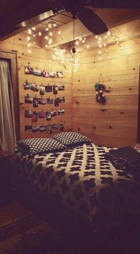 Teen Girl Bedroom - Rustic - Lights - Pictures