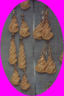 wheat weaving by Joy earrings