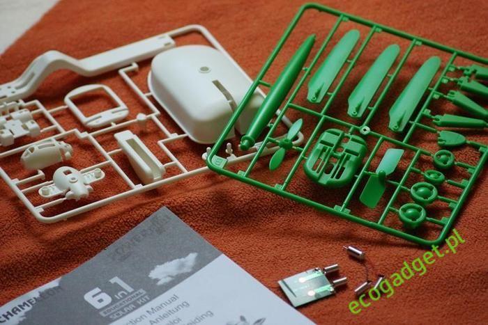 Chameleon - to 6 ekologicznych zabawek w 1 zestawie. Daj ponieść się wyobraźni i buduj modele zasilane zieloną energią! Doskonała zabawka i gadżet edukacyjny! / Chameleon - a six eco toys in one box. Give to bear the imagination and build models powered by green energy! Excellent educational toy and gadget. PLN64.99 / $22