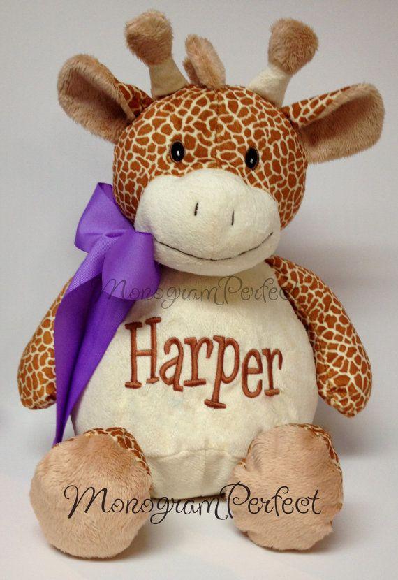 Personalized 16 Plush Giraffe Stuffed Animal by MonogramPerfect, $34.95