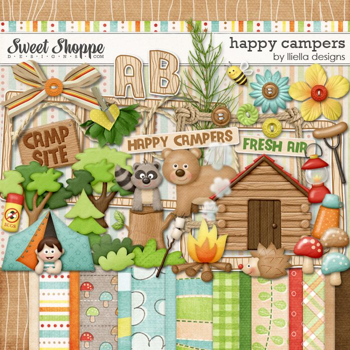 Happy Campers by lliella designs
