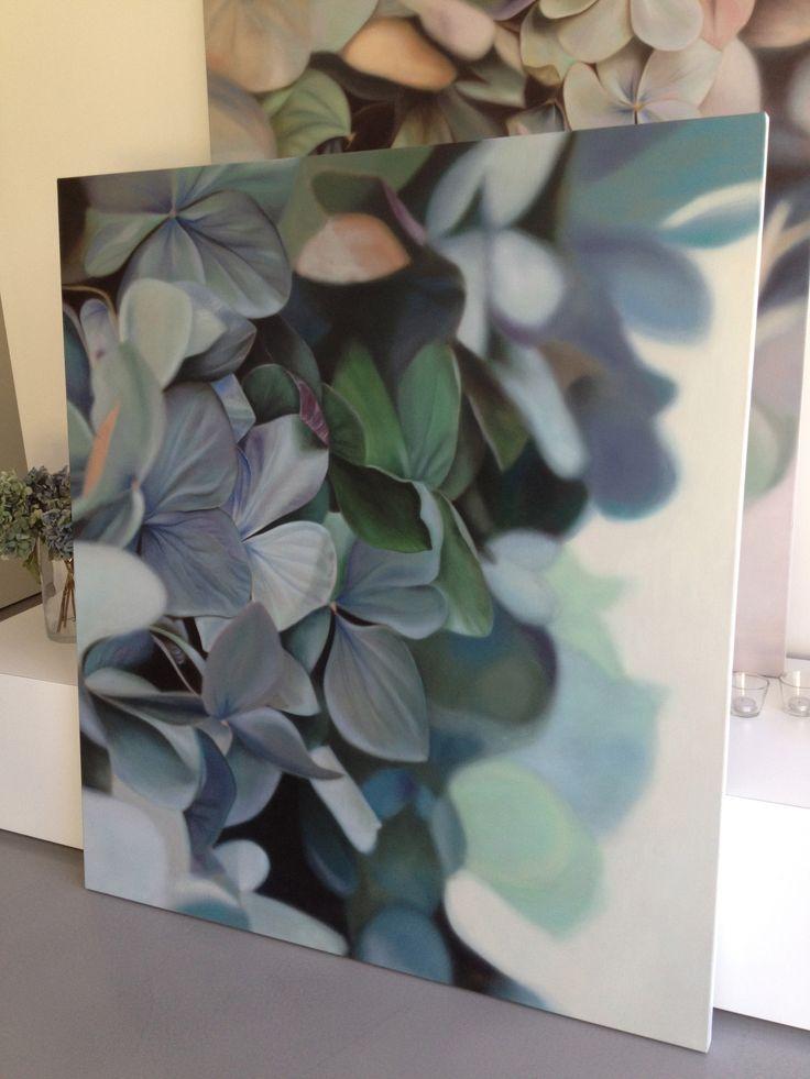 Leanne Thomas Hydrangea Paintings