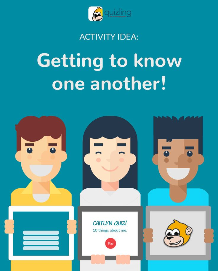 Classroom Activity: Get to know each other with Quizling! Ask students to create a quiz about themselves(favorite color, any pets, favorite movie).You can then play it together in class or have them share it to their classmates - a modern take on a getting to know each other activity for back to school! FREE!