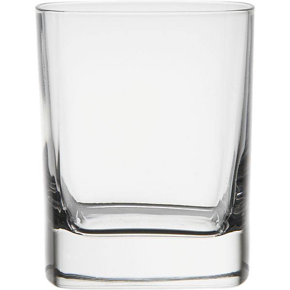 Strauss 11 oz. Double Old-Fashioned Glass in Bar and Drinking Glasses | Crate and Barrel