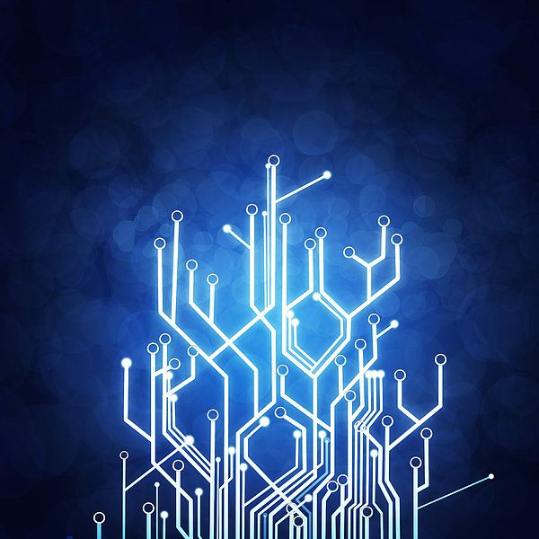 Circuit Board Technology Art Print by Setsiri Silapasuwanchai
