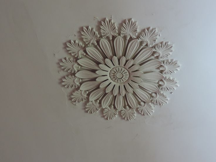 Madewood, Napoleonville, LA | Plaster ceiling medallion in the front hall.