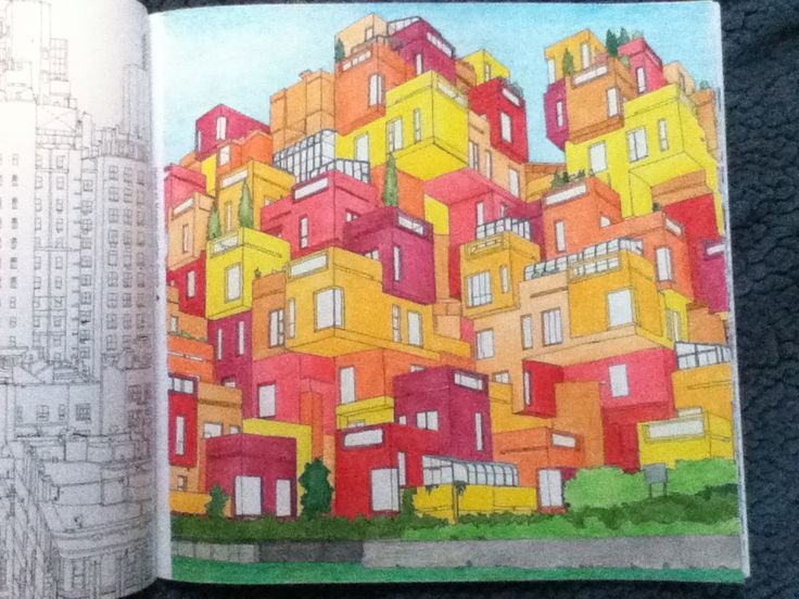 12 Best Fantastic Cities Coloring Book Completed Pages