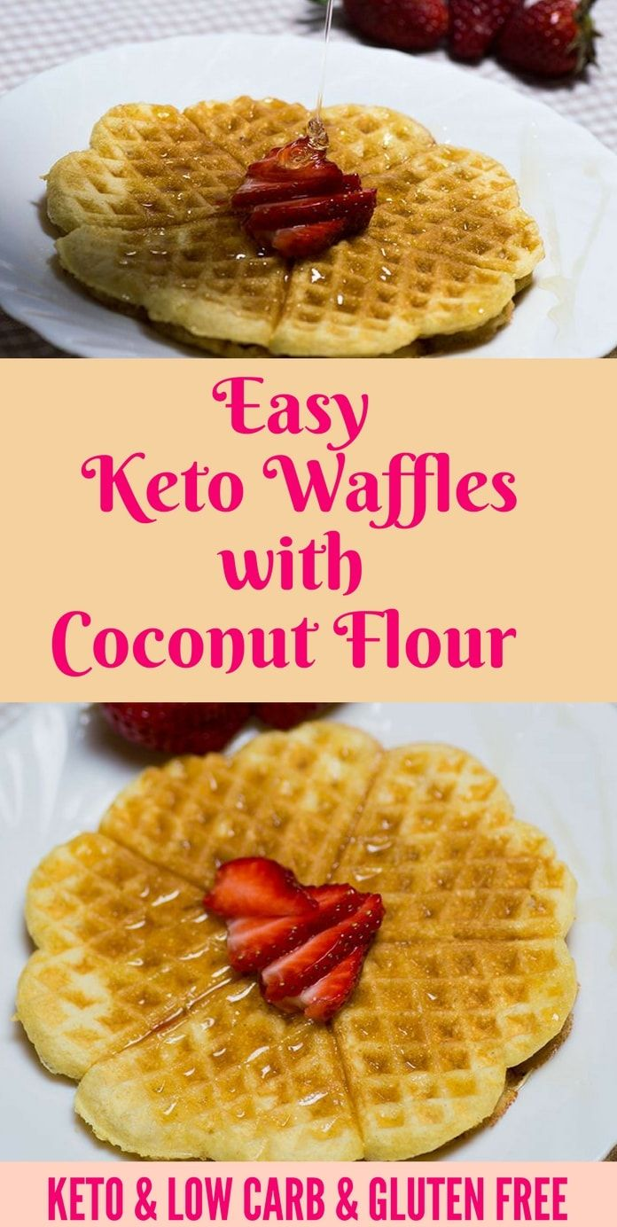 Efortless Keto Waffles with coconut flour perfect for breakfast or dessert. Have you made it?