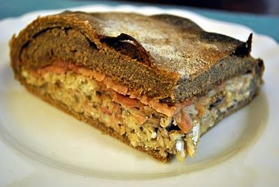 Kalakukko - fish baked inside a loaf of bread (traditional Finnish food with TSG status)