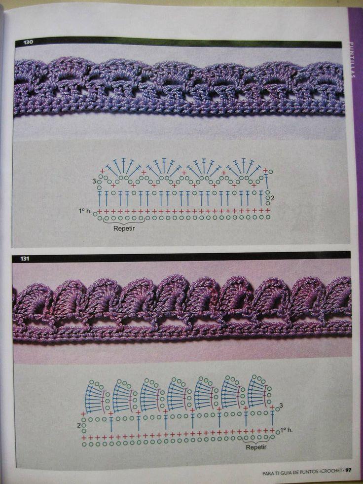 11 best Orillas a crochet images on Pinterest | Bordes de ganchillo ...