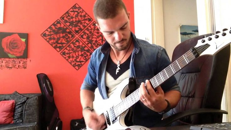 d metalcore guitar playthrough and improvise with ibanez s570 :kostas fo...