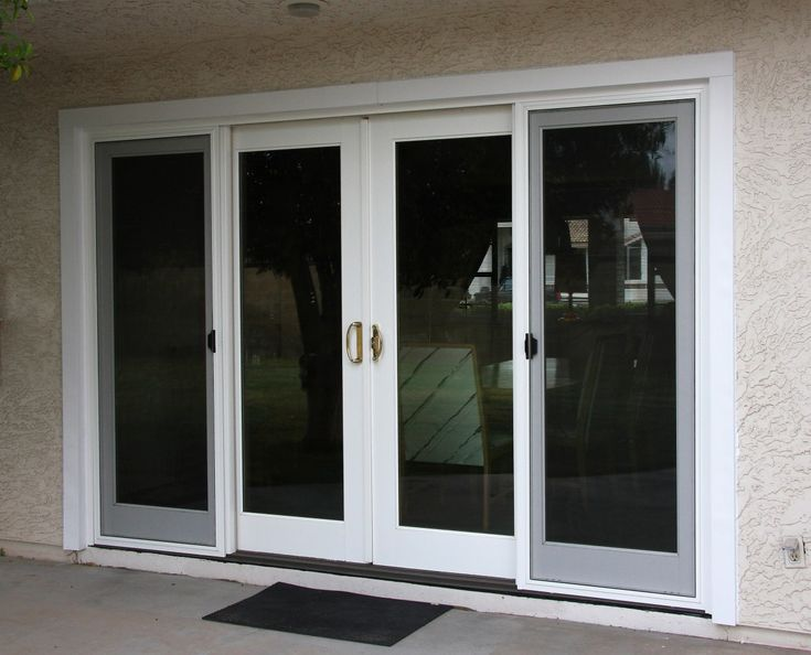 17 best images about breezeway on pinterest jalousies for Back door sliding door