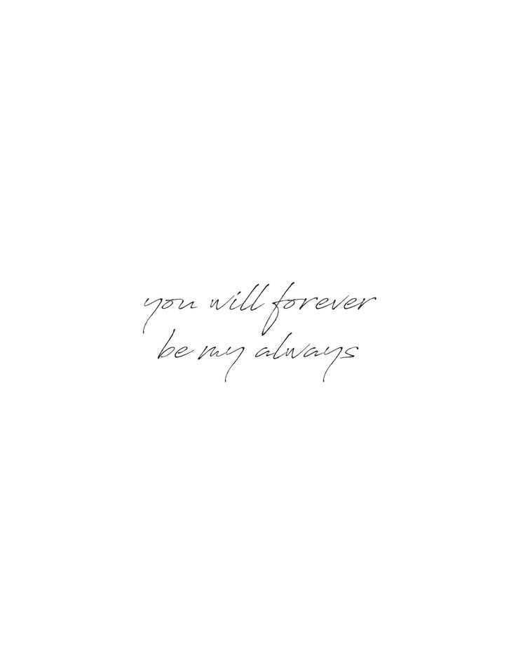 You Will Forever Be My Always Wall Art – #art #Wal…