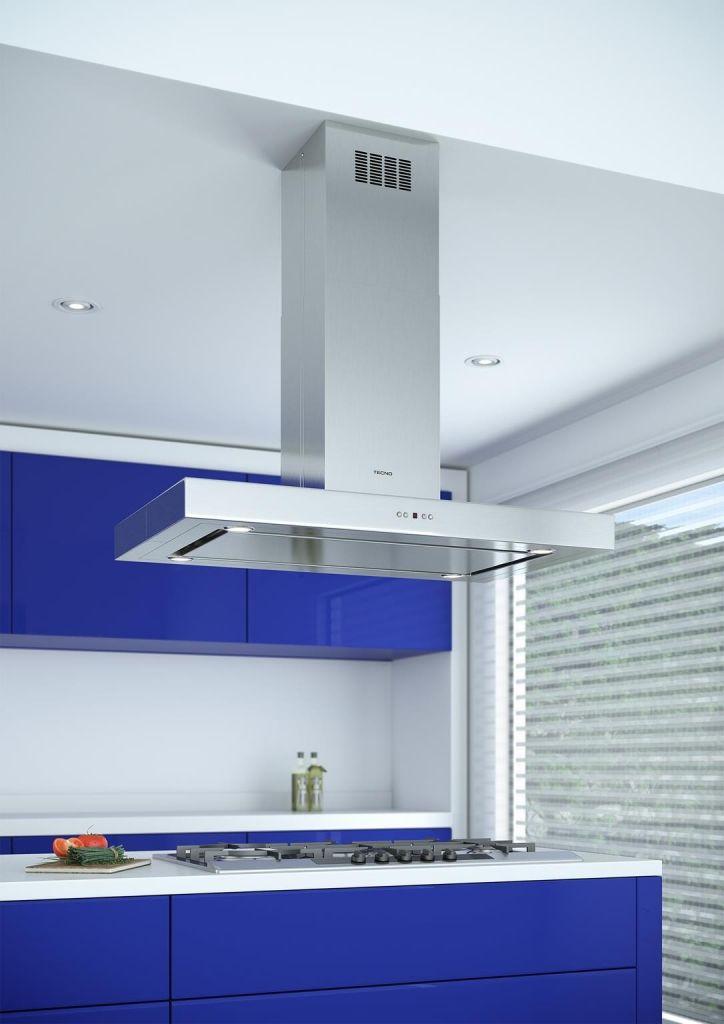 Coifa de teto TC 10. Coifa TC10 aplicada sobre o cook top THS 9T0 TECNO. #TECNO #COIFA