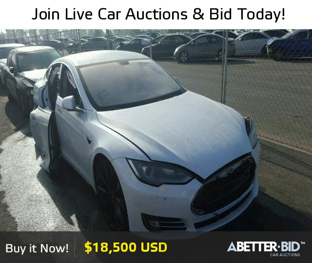 Salvage  2013 TESLA TESLA for Sale - 5YJSA1CP3DFP28018 - https://abetter.bid/en/26135197-2013-tesla-model_s