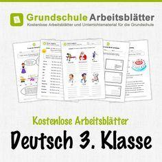 Kostenlose Arbeitsblätter und Unterrichtsmaterial für den Deutsch in der 3. Klasse in der Grundschule.