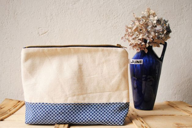 Kosmetiktäschchen mit Material- und Mustermix / cosmetic bag, mix of colours and fabrics by june-shop via DaWanda.com