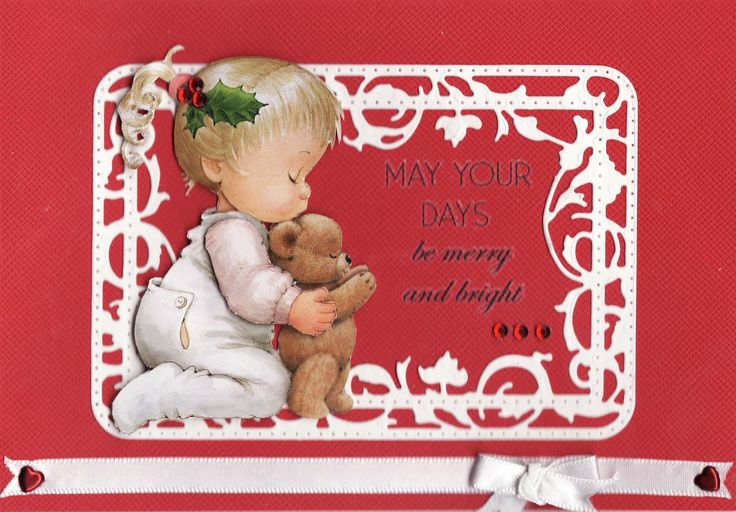 3D 'May Your Days be merry and bright' Card