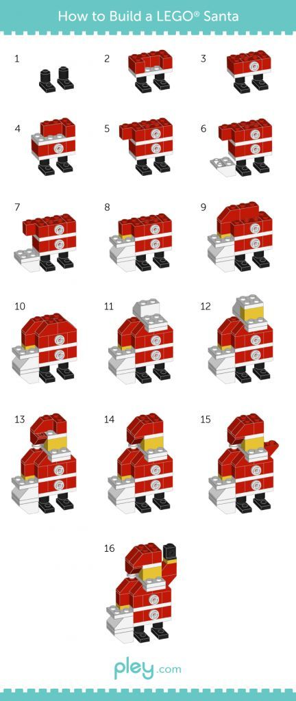 LEGO How-to Build: Snowman, Christmas Tree, Santa Claus