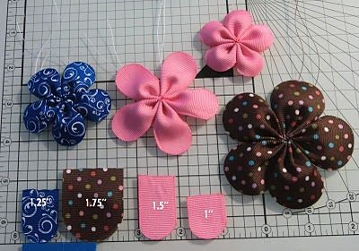 how to make bowsHairbows, Fabrics Flower, Bows Tutorials, Hair Clips, Ribbons Flower, Hair Bows, Flower Tutorial, Flower Hair, Ribbon Flower