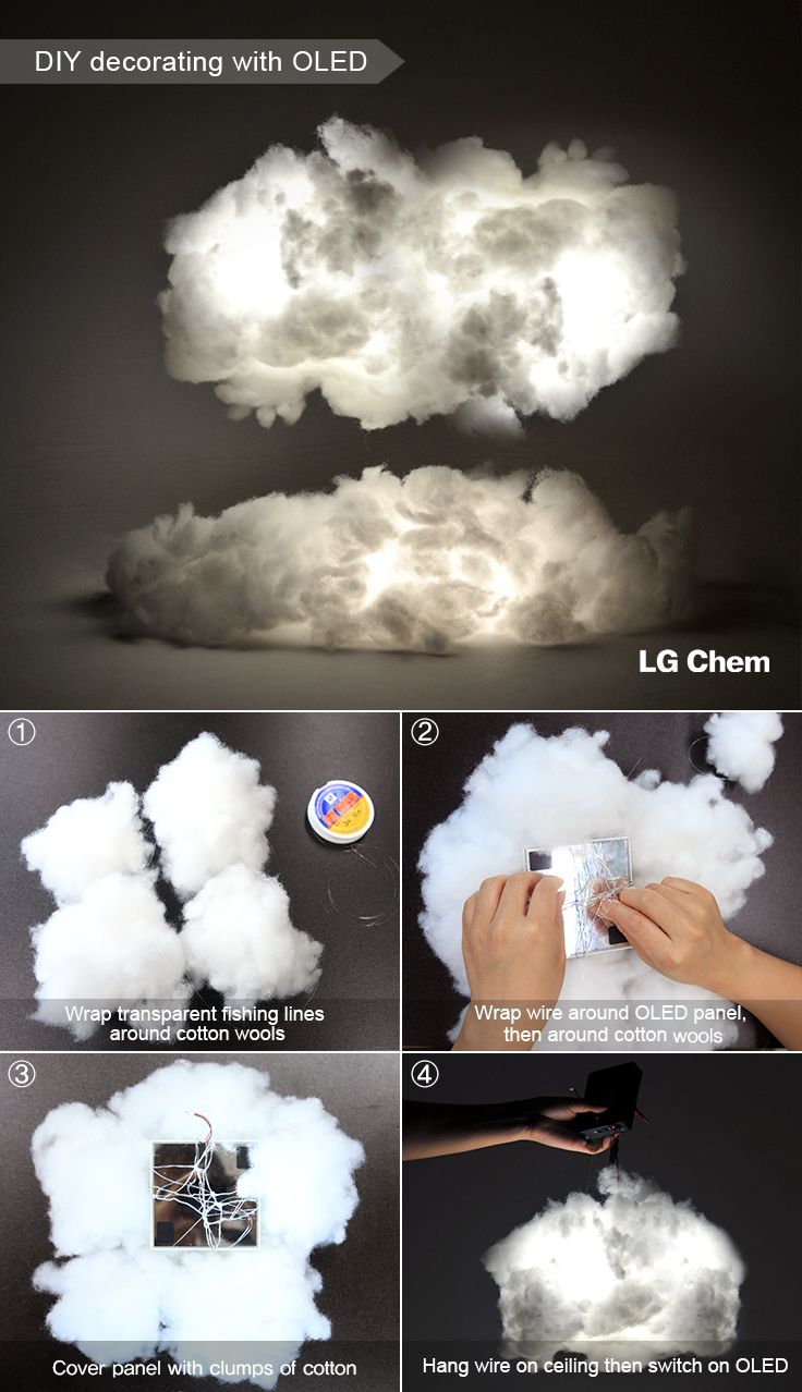 How to create 'Cloud Lighting' using low-heat, lightweight OLED panels by LG Display. Check out Organic Lights at http://www.organic-lights.com/en/lg-display-do-it-yourself-kit.html