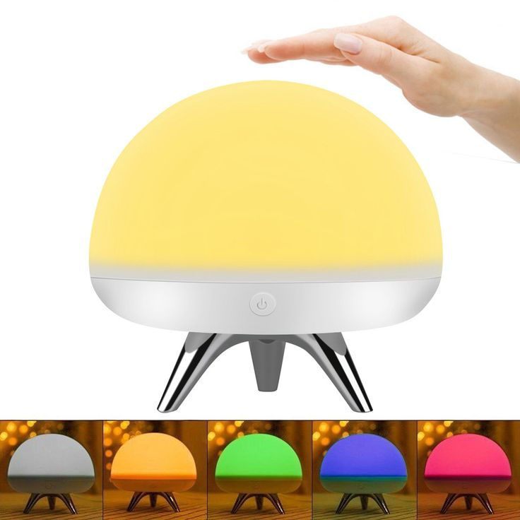 Intsun Children Kids Night Light, LED Silicone Toy Nightlight, Baby Rooms Nursery Lamps, Bedroom Touch Sensor Table Lamps Christmas Gifts with 4 Lighting Modes, 5 Colors ,USB Rechargeable