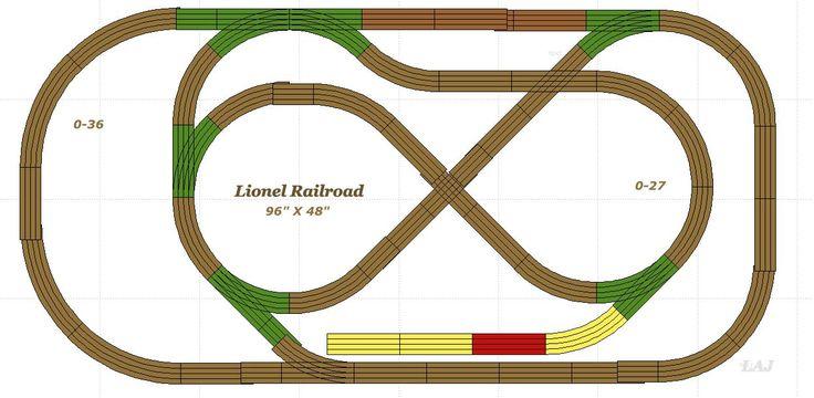 vintage lionel o gauge track plans   lionel track plan almost all the track is lionel 0