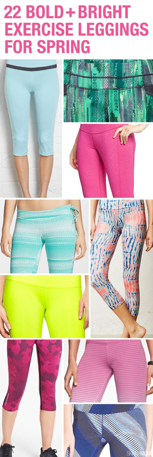 Go BOLD this Spring with your exercise leggings.