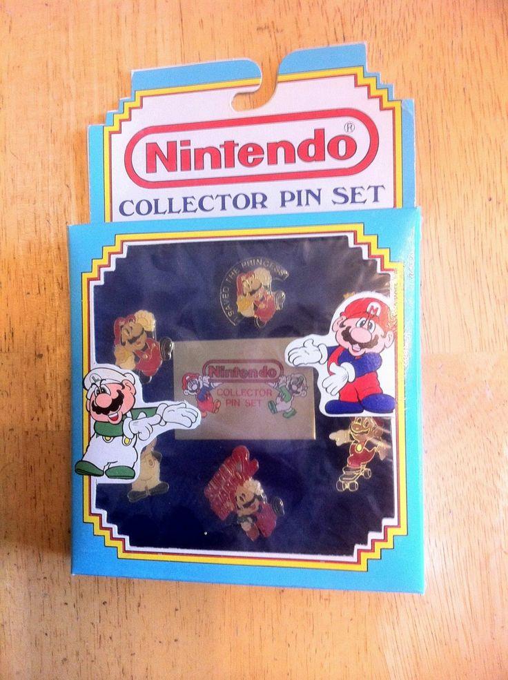 Vintage Nintendo Collectors Pin Set Retro Gaming Nintendo