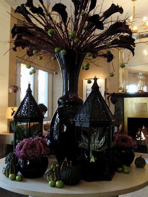 Scary Halloween Floral Arrangements