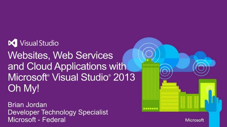 Websites, Web Services and Cloud Applications with Visual Studio by Microsoft Visual Studio via slideshare #Technology