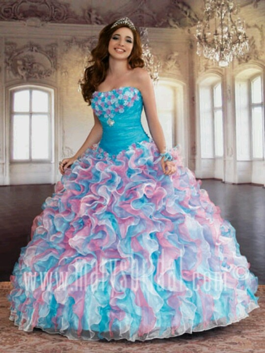 Cotton Candy Colors Cx Quinceanera Dresses Ideas Puffy
