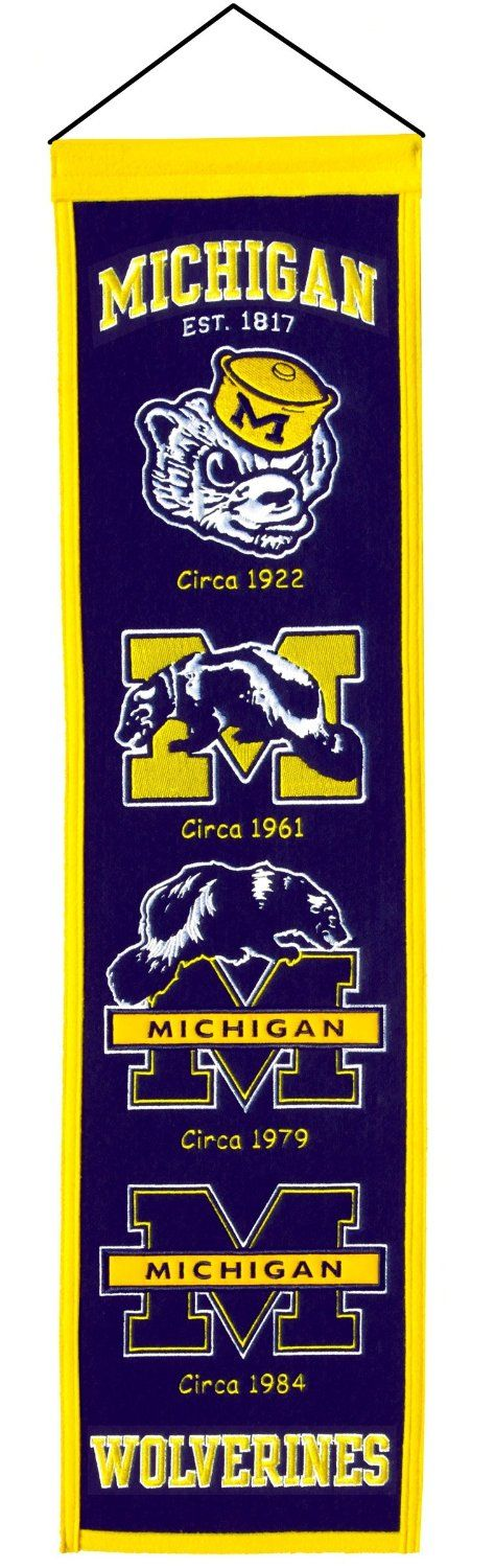Amazon.com: NCAA Michigan Wolverines Heritage Banner: Sports & Outdoors