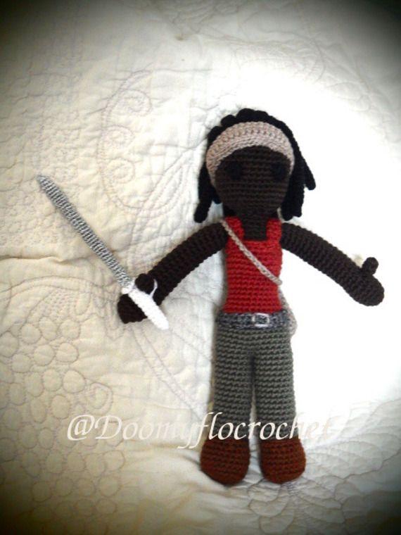 Michonne The Walking Dead Figurine crochet en coton