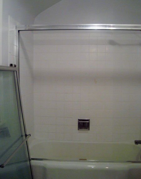 DIY on removing a frame to replace with a curtain. This could be a possibility in our bathroom.