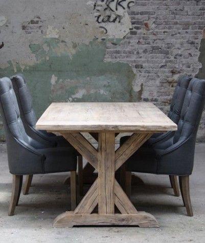 Old Pine tafel met kruispoot 200 x 100 cm