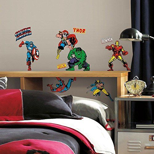 17 best ideas about marvel boys bedroom on pinterest for Avengers wall mural amazon