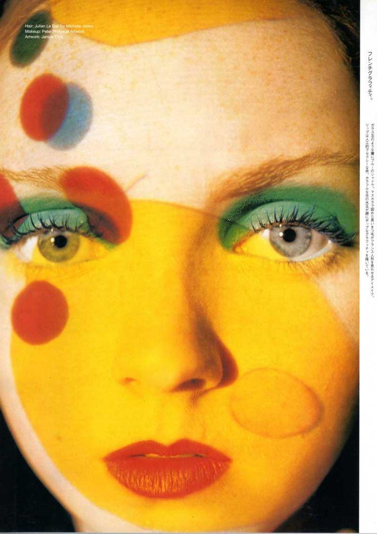 Lily Cole. Fotografía: Tim Walker. Vogue Nippon, Marzo, 2003 / rostro, amarillo