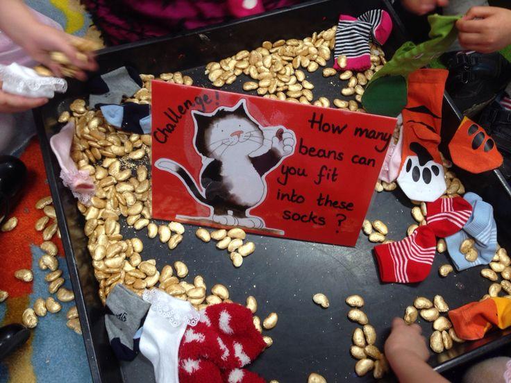 Jaspers Beanstalk inspired maths challenge.