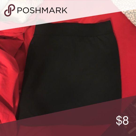 Black tube skirt Never worn - no tags Forever 21 Skirts Mini