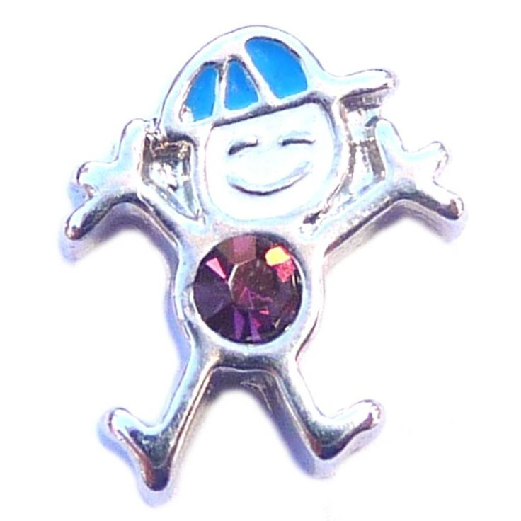 February Boy Silvertone Floating Locket Charm. High quality floating locket charm for inside your floating locket. Add to your locket along with some of our other charms. Choose from nearly 2000 floating locket charm options. Plus our charms are compatible with other major brand lockets. Use to create unique custom jewelry.