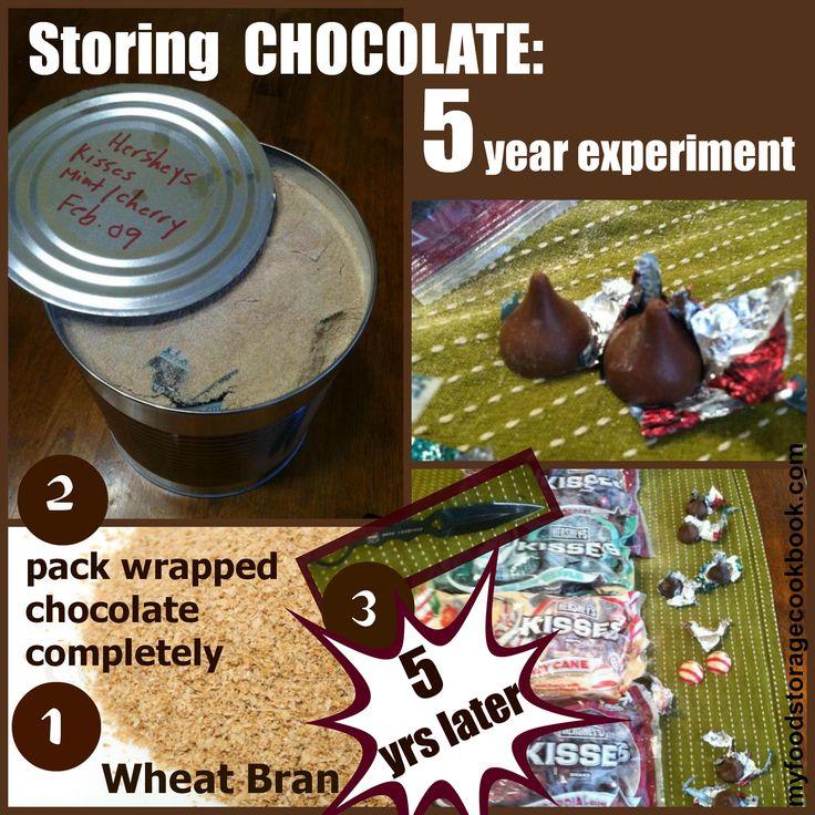 Chocolate Storage Ideas: Using Wheat Bran | My Food Storage Cookbook | #prepbloggers #foodstorage #howto