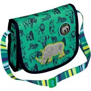 ΤΣΑΝΤΑ ΒΟΛΤΑΣ ΜΕ ΚΑΠΑΚΙ LET'S GO WILD Πρόκειται για μια τσάντα βόλτας με θέμα τον ρινόκερο, από την Spiegelburg. Σε χρώμα πράσινο σκούρο, στο κέντρο απεικονίζεται ένας ρινόκερος και γύρω του φαίνονται άλλα άγρια ζώα. Ο ιμάντας του είναι πολύχρωμος και ρυθμιζόμενος στο ύψος που ταιριάζει στο κάθε παιδάκι. Αποτελείται από μια κύρια εσωτερική θήκη, αρκετά μεγάλη που να χωράει εκτός των άλλων το μπουκάλι νερού και το τάπερ φαγητού. Είναι μια πρακτική και εύκολη στη χρήση της τσάντα η οποία είναι…