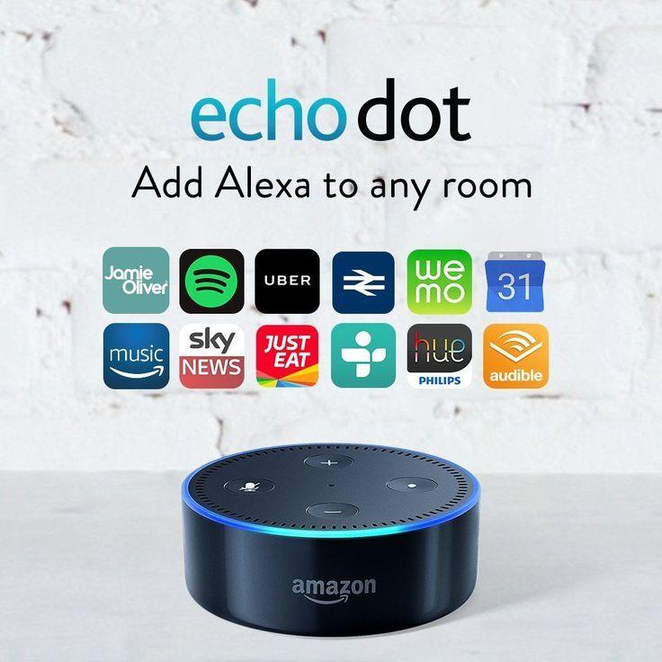 Amazon Echo Dot 2nd Generation w/ Alexa Brand New BLACK #Amazon