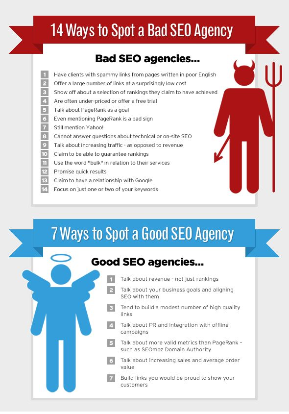 about good and bad #SEO agency )))) #infographics