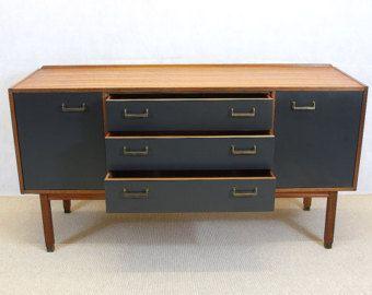 Genuine 1960s GPLAN Sideboard, Vintage/Retro, Grey, Upcycled
