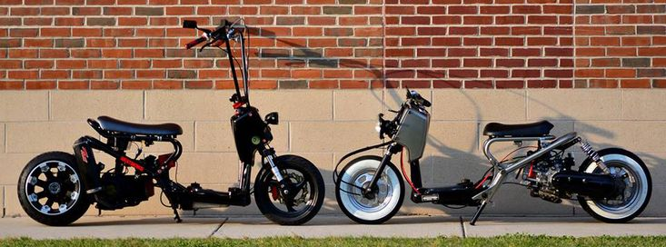 Custom Honda Ruckus parts. Fatty Rims, Stretch Kits, Lights, Performance Parts.
