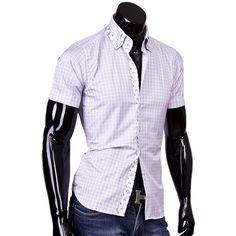 Рубашка Louis Fabel приталенная цвет белый в клетку