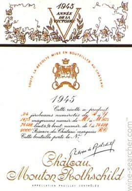 Tasting Notes: 1945 Chateau Mouton Rothschild, Pauillac, France
