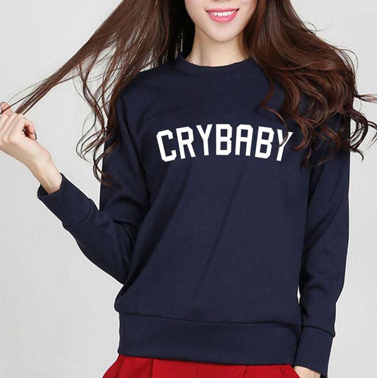 Cry Baby Letters Printed Kawaii Women's Sweatshirt 2017 New Autumn Winter Kpop Women Hoodies Fleece High Quality Tracksuit S-XXL #Affiliate